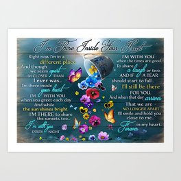 Poster I'm THERE INSIDE YOUR HEART Art Print