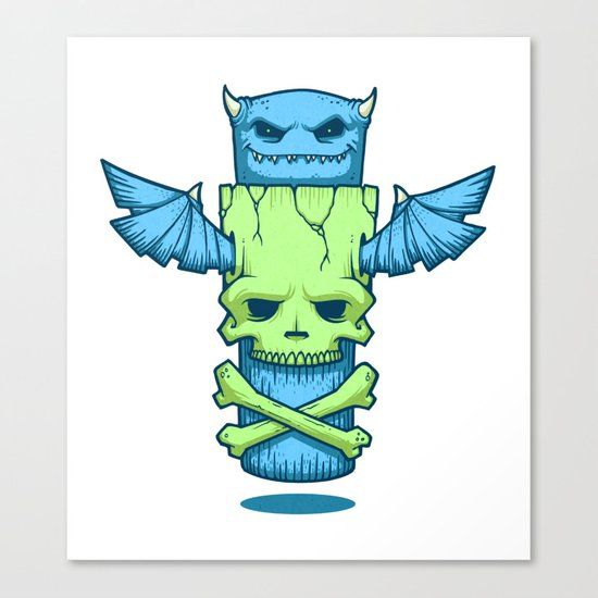 Grim Totem: A Forked Tongue Tale Canvas Print