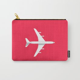 707 Passenger Jet Airliner Aircraft - Crimson Carry-All Pouch
