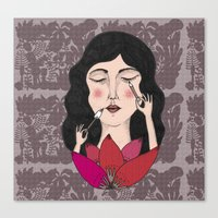 make up Canvas Prints featuring Make up by Judit Canela