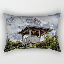 Swiss Observation Tower and Monch (Monk) Mountain - Lauterbrunnen Rectangular Pillow