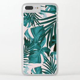 Tropical Jungle Leaves Pattern #3 #tropical #decor #art #society6 Clear iPhone Case