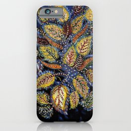 Blue Leaves of Autumn by Seraphine Louis iPhone Case