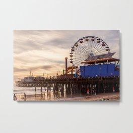 Santa Monica Pier Fun Metal Print