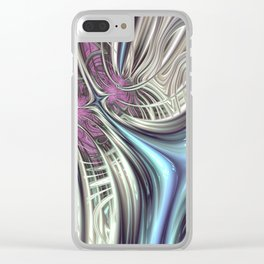 Cosmic Orchid - Fractal Art Clear iPhone Case