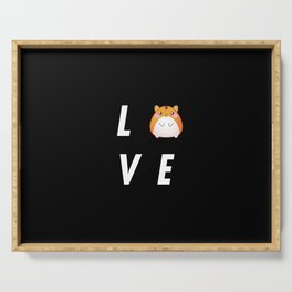 Funny Love Hamster Pun Quote Sayings Serving Tray