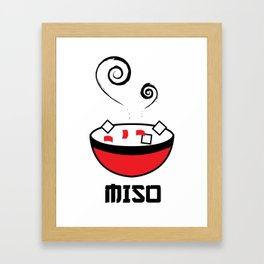 Miso Soup Framed Art Print