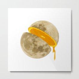 Lunar Moon Fruit Metal Print