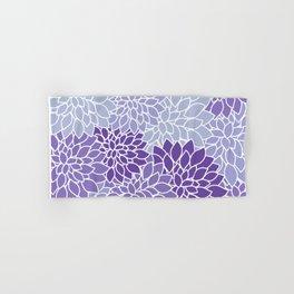 Ultra Violet Lavender Dahlias Hand & Bath Towel