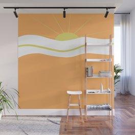 """ Orange days "" Wall Mural"