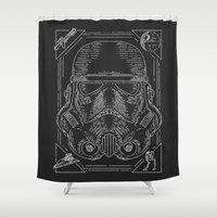 storm trooper Shower Curtains featuring Storm Trooper by Jon Deviny