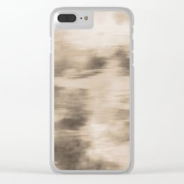 Fusion Abstract Watercolor Blend Pantone Hazelnut / Fluid Art Ink Clear iPhone Case