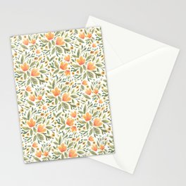 Peachy Flower Medley Stationery Cards