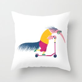 Cool Ant Eater Throw Pillow