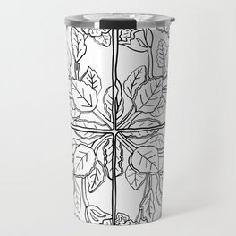 Portuguese Tiles - Line Art Travel Mug
