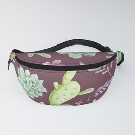 Cactus Watercolor Pattern 11 Fanny Pack