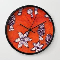 mushroom batik Wall Clock