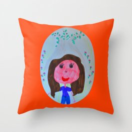 Elisavet loved the olive tree Throw Pillow