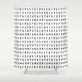 Nordic Runes Shower Curtain