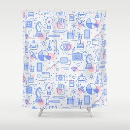 The fans pattern Shower Curtain