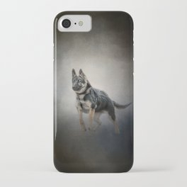 Feet First - German Shepherd Puppy iPhone Case