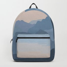 Pastel Sunset over Blue Mountains Backpack