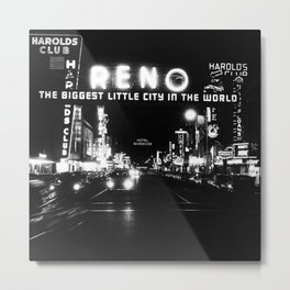 black city Metal Print