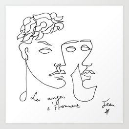 Jean Cocteau Homme  Art Print