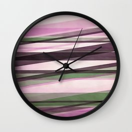 Semi Transparent Layers In Mint Pink and Morello Wall Clock