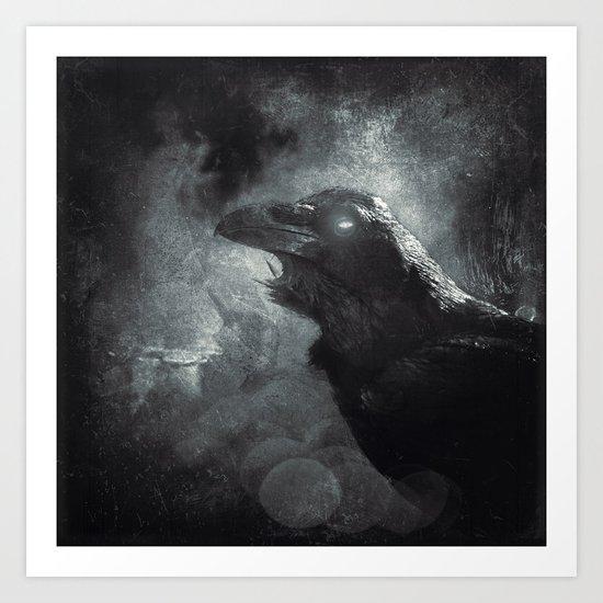 mystic raven II Art Print