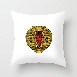 cobra for people who like sensitive savages  Throw Pillow