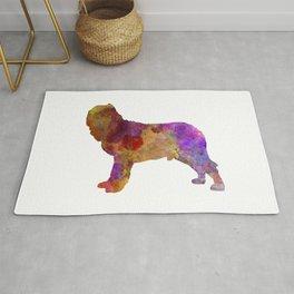 Napolitan Mastiff in watercolor Rug