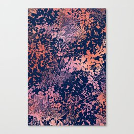 blanket of foliage in warm tones Canvas Print