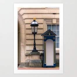 Empty Guard Post at Buckingham Palace London England Art Print