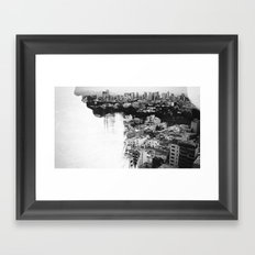 The gentle hum of anxiety V. Framed Art Print