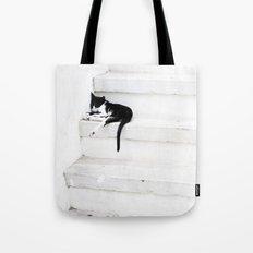 Black on White 2 Tote Bag