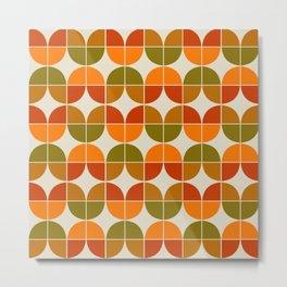 Mid Century Geometric 8 Metal Print