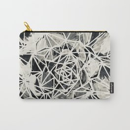 Merrybell Succulent Black-White Print Carry-All Pouch