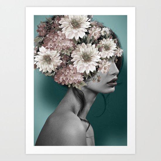 Floral Woman Art Print