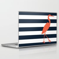 crane Laptop & iPad Skins featuring Crane by Gathered Nest Designs