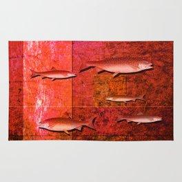 Coral Shadows, Swimming Fish Rug