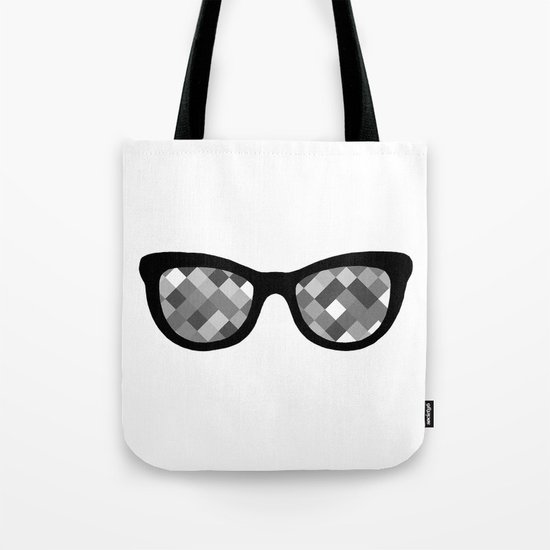 Diamond Eyes Black and White Tote Bag
