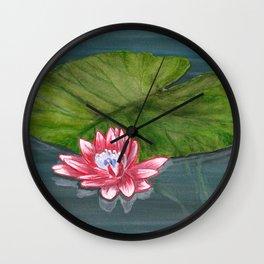 Water Lilies 1 Wall Clock