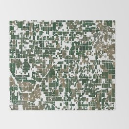 Suburban Neighborhood of California Throw Blanket