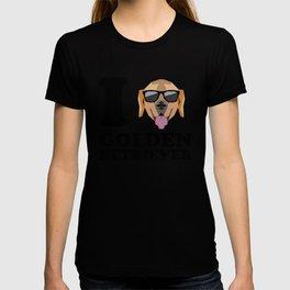 I Love Golden Retriever modern v1 T-shirt