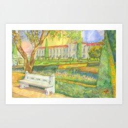 garden. jardim Art Print