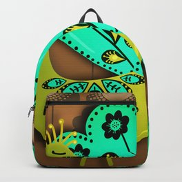 A Pair Of Copper Peacocks Backpack