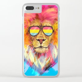 The Pan Lion Pride Clear iPhone Case