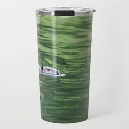 Beaver on an Evening Swim Travel Mug