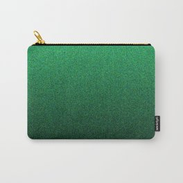 Green and Black Static Ombre Carry-All Pouch